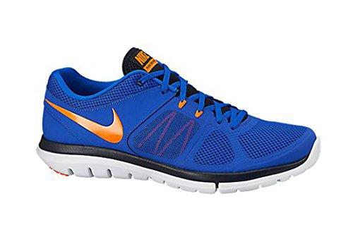 Nike Flex 2014 RN Zapatillas de running, Hombre Azul / Dorado / Negro / Blanco (Lyn Bl / Ttl Orng-Drk Obsdn-Whit)