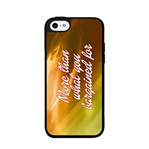 More Than What You Bargained For 2-Piece Dual Layer Phone Case Back Cover iPhone 5 5s by lolosakes
