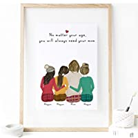 Custom gift for mom from daughter print art 8x10 (Unframed)