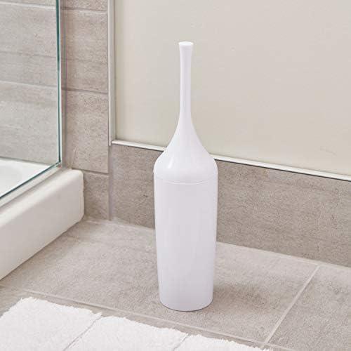 support brosse WC /étroit en plastique blanc InterDesign Una balayette toilette