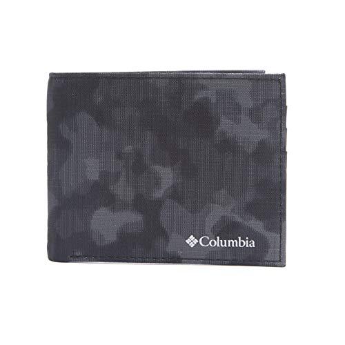 Columbia Men's RFID Blocking Nylon Slimfold Wallet, grey camo, One Size (Men Wallets Hunting)