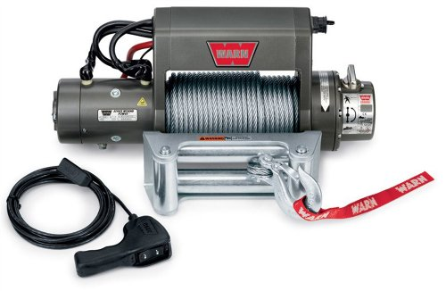 "WARN 27550 XD9000i Series Electric 12V Winch with Steel Cable Wire Rope: 5/16"" Diameter x 125"