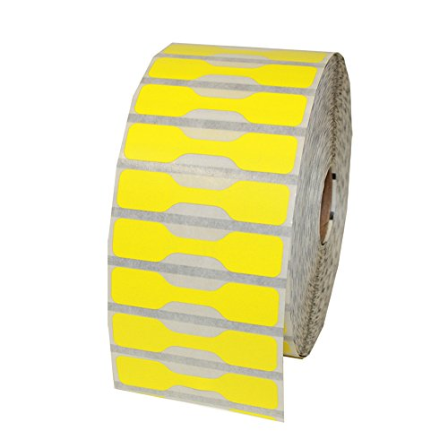 Zebra Printer Compatible 10010064 Yellow Jewelry Labels - Barbell Style - 3510 Labels Per Roll
