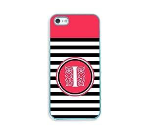 Black Stripes I Jpg Monogram Aqua Silicon Bumper iPhone 5 & 5S Case - Fits iPhone 5 & 5S