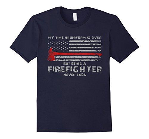 Fire Uniform Shirts (Men's Thin Red Line Firefighter American Flag shirt XL)