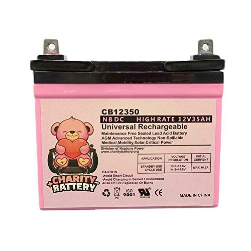 Everest & Jennings TRAVELER QUEST 12V 35Ah SLA Battery CB12350 by Charity Battery