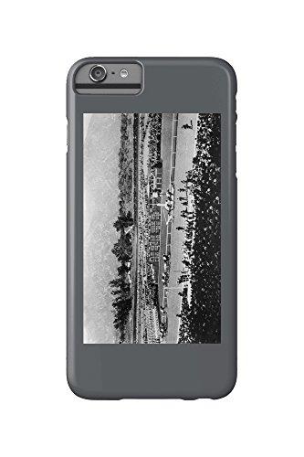 Los Angeles, California - The Home Stretch at Santa Anita Track (iPhone 6 Plus Cell Phone Case, Slim Barely - Mobile Santa Anita