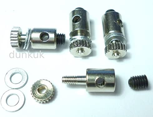 4 x STEEL QUICKLINKS  M2 thread connectors rc models for 2mm pushrods clevis