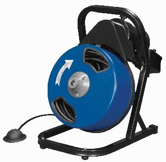 """Image of 1/2 inch by 50 feet Compact Electric Drain Cleaner Drum Auger Snake (1"""" to 4"""" pipes) with Built-in GFCI and many Accessories"""