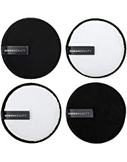 100% Reusable Makeup Eraser   4 Pack Large Eco Friendly Microfiber Makeup Remover Pads for Face Makeup   Perfect for Chemical Free Removal of Eye Makeup Foundation Highlighter and Lipstick