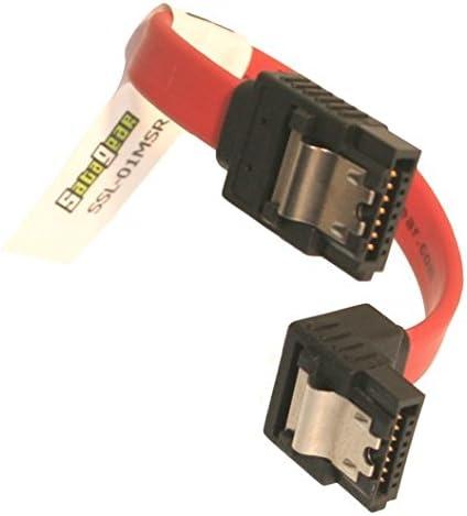 "Serial ATA Right Angle to Straight SATA 4/"" Cable 10//pk"