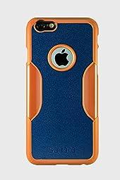 iPhone 6 Case, iPhone 6s Case Orange Blue SaharaCase [Bonus Tempered Glass Screen Protector] Shock-Absorption TPU Rubber Bumper Reinforced Hard Plastic Frame for Apple 6/6s 4.7\