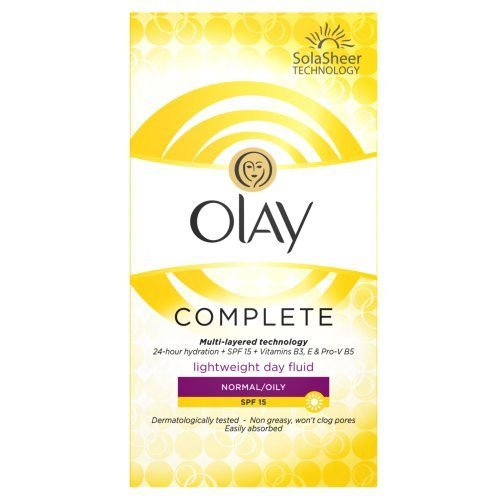 Olay Complete Care SPF 15 Day Fluid Normal/Oily for Women, 3