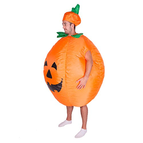 Bodysocks Adult Inflatable Pumpkin Halloween Fancy Dress Costume