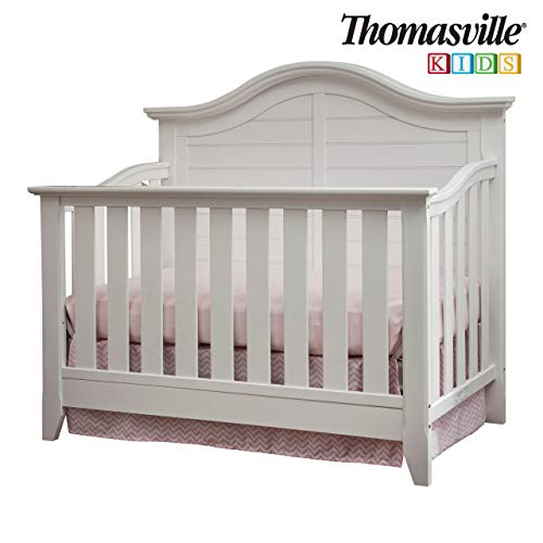 Thomasville Kids Southern Dunes Lifestyle 4-in-1 Convertible Crib, White, Easily Converts to Toddler Bed Day Bed or Full Bed, Three Position Adjustable Height Mattress (Mattress Not Included) (Thomasville Picture Frames)