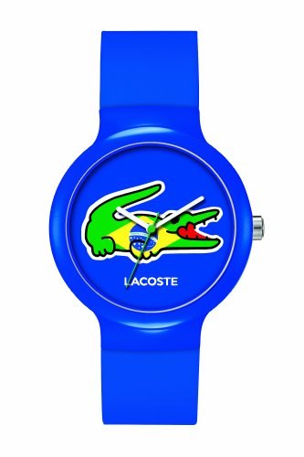 Lacoste Goa Brazil Blue/Green Silicone Unisex watch #2020069