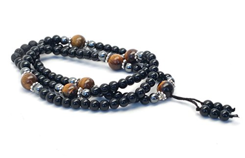 Buddhist Necklace Bracelet Hematite Meditation