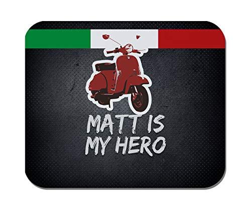 Makoroni - MATT is My Hero Copy Italian Scooter Italy Flag- Non-Slip Rubber Mousepad, Gaming Office Mousepad