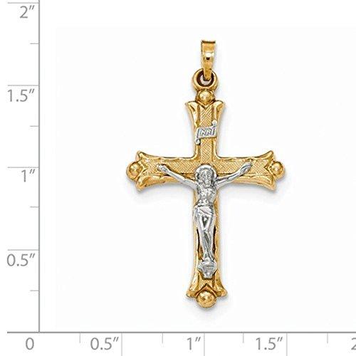23mm x 40mm Jewel Tie Sterling Silver INRI Crucifix Cross Pendant