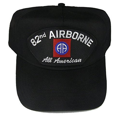 82nd-AIRBORNE-DIVISION-VETERAN-HAT-with-ALL-AMERICANS-and-82ND-AIRBORNE-crest-cap-BLACK-Veteran-Owned-Business