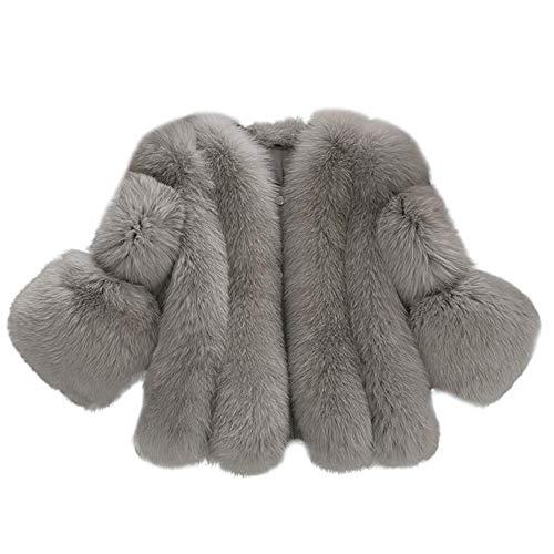 HX fashion Faux Bontjas Meisje Prinses Verdikte Comfortabele Maten Winterjas Winterjas Winter Parka Jas Jas Faux Bontjas…