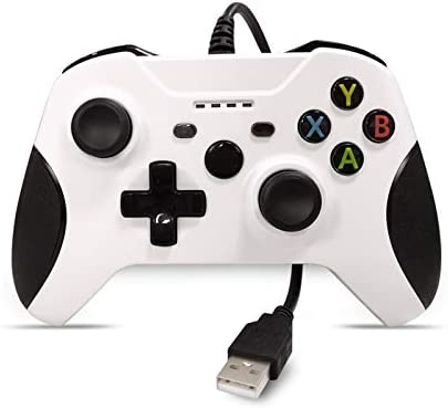 Chasdi Xbox one Wired Controller for All Xbox One Models and PC (White)