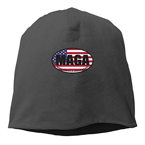 (MZ-HY Make America Great Again Men Women Warm Stretchy Daily Beanie Hat Skull Cap Outdoor Winter Hats Black)