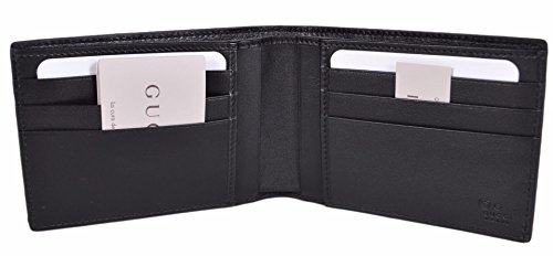 df39ab4b0f4 Gucci Men s Micro GG Guccissima Large Leather Bifold Wallet (Black 278596  BMJ1N)