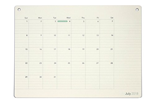 Elegant Desk Pad Calendar · 18 Months · July 2018 - December 2019 · 17.8'' x 13'' · Wall Calendar · Monthly Planner (Ruled) by Pinesman