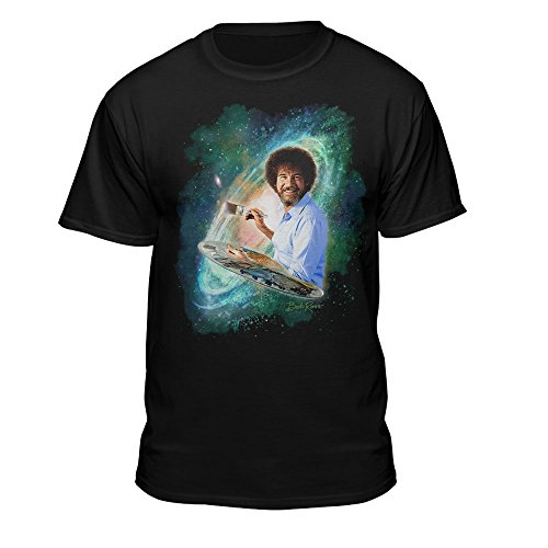 Teelocity Bob Ross - Officially Licensed Graphic Design Galaxy T-Shirt - Painting Tee Shirt for Men, Woman, and Children (XX-Large, Galaxy)