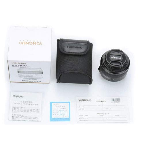 YONGNUO YN85MM 85mm F1.8N Medium Telephoto Prime Lens Pro Kit for Nikon Camera with Filters, Hood, Case, A&R Cleaning Cloth