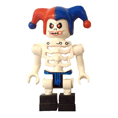 LEGO Minifigure - Ninjago - KRAZI Skeleton with Jester Hat (Skeleton Jester)