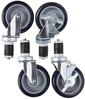 """Mesa de trabajo ampliar tallo Caster 4 """"rueda con freno nuevo (4 ruedas"""