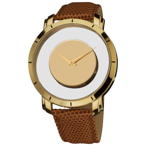 Gold Tone Floating Crystal Watch - 3