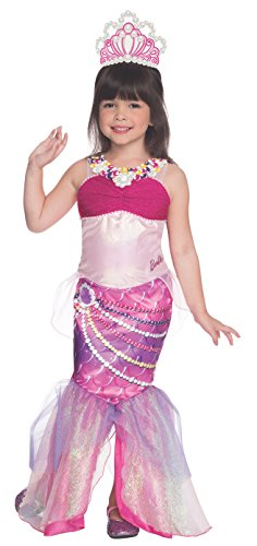 [Rubies Barbie and The Pearl Princess Deluxe Lumina Costume, Child Medium] (Barbie Halloween Costumes For Kids)