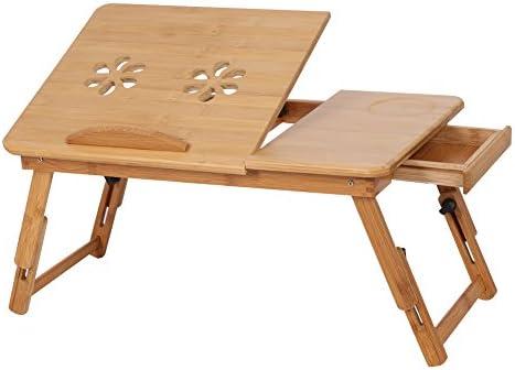 SUNCOOL Portátil de Bambú Soporte de Portátil Plegable Escritorio ...