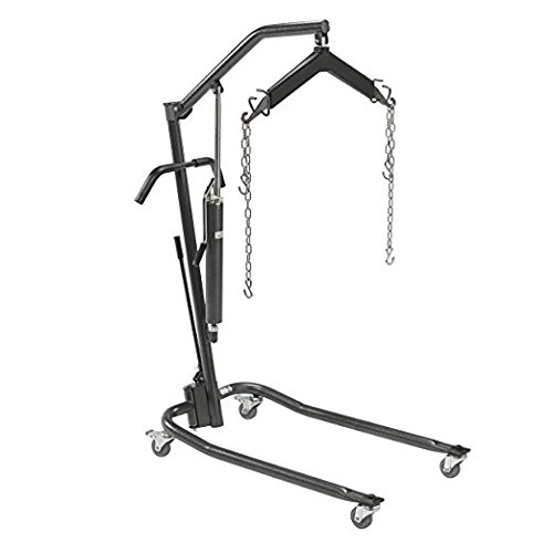 Drive Medical Hydraulic Patient Lift with Six Point Cradle, Silver Vein, 3 Inch ()