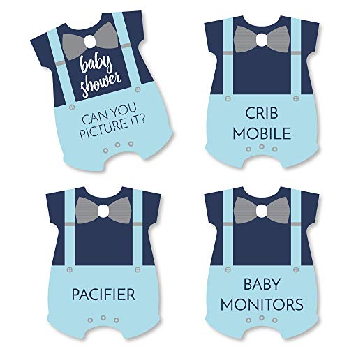 Baby Shower Charades (Big Dot of Happiness Baby Boy - Blue Baby Shower Game - Can You Picture It Card Game - Set of)