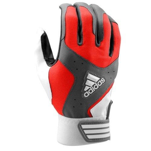 Adidas大人用Wheelhouse Batting Glove B00SXIOM96レッド/グレー Medium