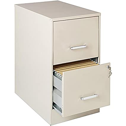 newest 052b2 25eb7 Stone-colored 2-drawer Steel File Cabinet with Full High-side Drawers That  Accept Letter-size Hanging File Folders