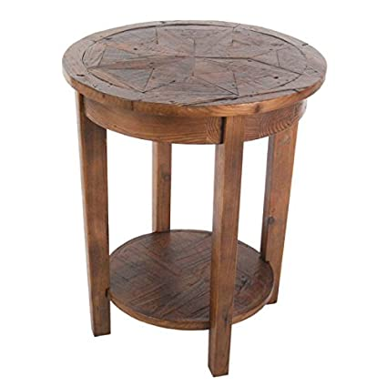 Charmant Alaterre Furniture Revive   Reclaimed Round End Table   Natural
