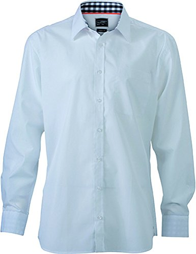 TALLA M. James & Nicholson Men's Plain Shirt, Camisa Casual para Hombre