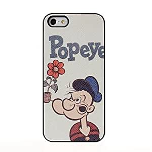 Popeye Pattern Pasting Skin Plastic Case for iPhone 5/5S