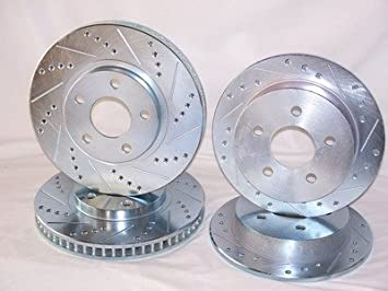Front And Rear Brake Rotors /& Ceramic Pads For Mitsubishi Lancer DE ES
