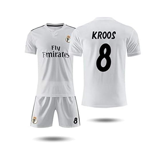 GXYGWJ T-Shirt Maillot Domicile Homme Real Madrid 10 Maillot d'entraînement de Football Magique Modric à Manches Courtes T-Shirt Basketball (Color : A, Size : L)