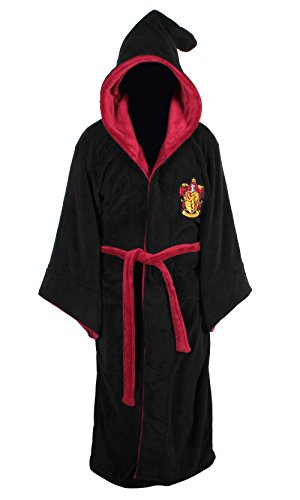 Harry Potter Gryffindor Adult Fleece Hooded Bathrobe (One Size) ()