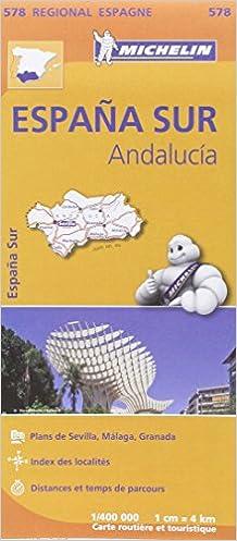 Carte Espagne Andalousie Michelin