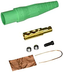 Leviton 16d22-ug 16-series Taper Nose, Male, Plug Contact & Insulator, Detachable, Cam-type Connector, Green