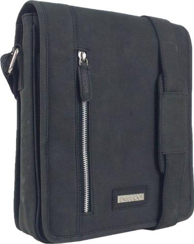 en ipad Messager Bag 5K Noir Sac Messenger UNICORN cuir Tablets Ebook Réel ou 5x8q1wBI