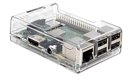 (SB Components Raspberry Pi 3 Model B+ Transparent Case - Access to all ports)